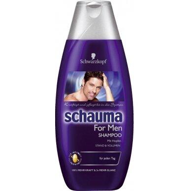 SCHAUMA FOR MEN šampūnas vyrams su apyniais, 250ml