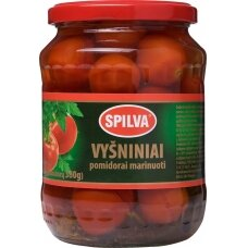 SPILVA vyšniniai pomidorai marinate 680(380)g