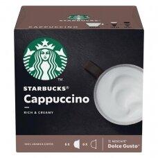 Starbucks kavos kapsulės Dolce Gusto Cappuccino, 12 kapsulių, 120g