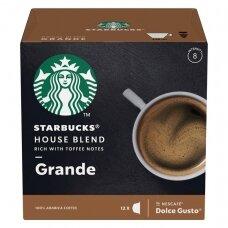 Starbucks kavos kapsulės Dolce Gusto House Blend Grande, 12 kapsulių, 102g