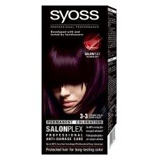 """SYOSS dažomasis plaukų kremas, Nr.3-3 """"Tamsiai violetinis"""""""