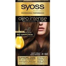 """SYOSS INTENSE dažomasis plaukų kremas, 4-60 """"Auksinis rudas"""""""
