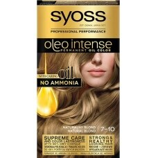 """SYOSS INTENSE dažomasis plaukų kremas, 7-10 """"Natūraliai šviesu"""""""