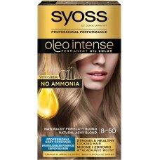 """SYOSS OLEO INTENSE plaukų dažai, 8-50 """"Peleninis šviesus"""""""