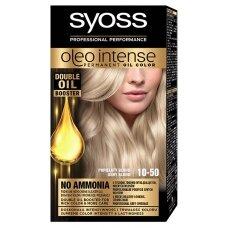 """SYOSS OLEO INTENSE plaukų dažai, 10-50 """"Pelenų atspalvio šviesa"""""""