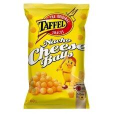 TAFFEL NACHO CHEESE BALLS kukurūzų traškučiai, 60 g