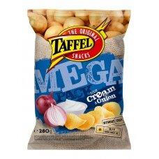 TAFFEL S.CREAM & ONION Mega Pack bulvių traškučiai, 280g