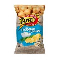 TAFFEL Sourcream & chives bulvių traškučiai, 25 g
