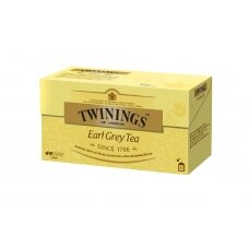 TWININGS Juodoji arbata EARL GREY 25X2g, 50g
