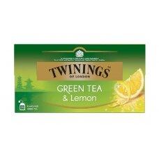 TWININGS Žalioji arbata su citrina 25X1.6g, 40g